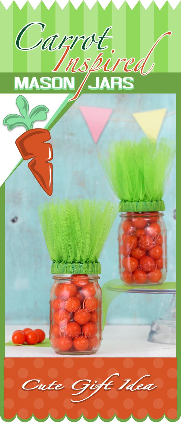 carrot inspired mason jars