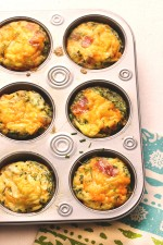 Get Your Breakfast on with this Cheesy Bacon & Chives Omelet Cups Recipe