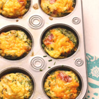 cheesy bacon chive omelet cups