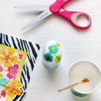 Make Decoupage Easter Eggs with Napkins
