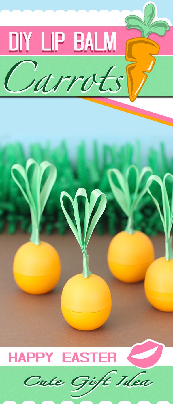 Make a cute giftable carrot with EOS Lip Balm
