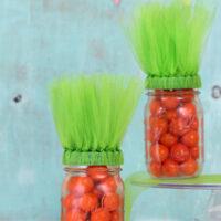 easter carrot mason jars