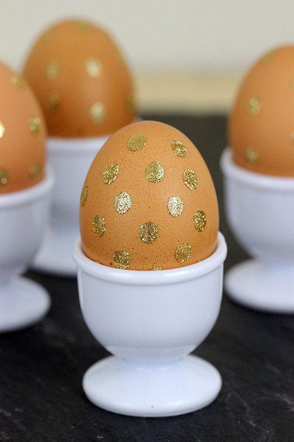gold glitter eggs