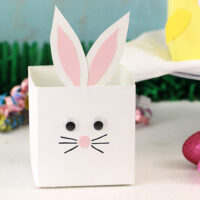 Up-cycled Bunny & Chick Easter Baskets Made with the New Half-gallon Size International Delight
