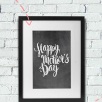 Make a Framed Gift with these Free Mother's Day Printables