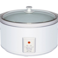 Brentwood 8.0 Quart Slow Cooker White Body