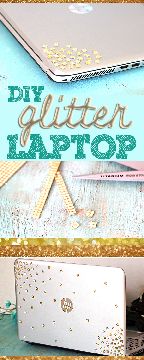 DIY Confetti Glitter Laptop. Easy and non-permanent!  {{ made on HP Envy Touchsmart}}