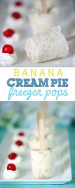 Tasty and Simple Banana Cream Pie Freezer Pops