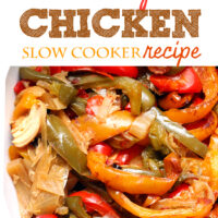 Make fresh fajita chicken with only a handful of delicious ingredients!