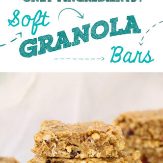 Perfectly simple baked granola bars. Only 4 healthy ingredients!