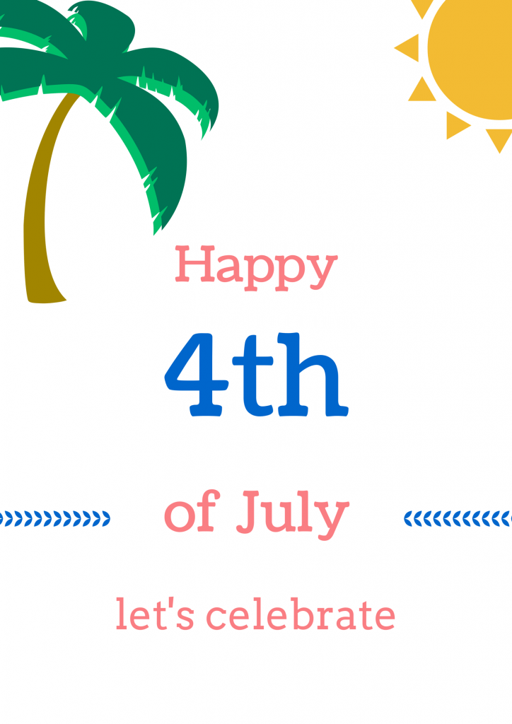 4th of July #freeprintable for a Hawaiian themed party