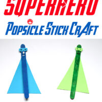 Keep Cool & Have Fun with this Superhero Popsicle Stick Craft for Kids
