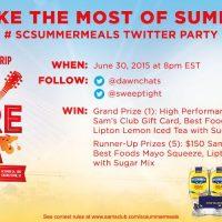RSVP for #SCSummerMeals Twitter Party on 6/30 at 8pm ET