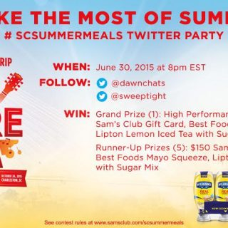 RSVP for #SCSummerMeals Twitter Party on 6/30 at 8pm ET