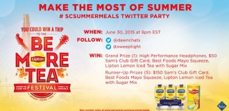 RSVP for the #SCSummerMeals Twitter Party