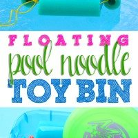 Pinterest Remake: Floating Pool Noodle Toy Bin
