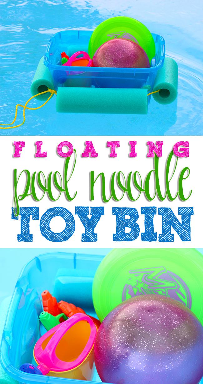Floating Toy Bin by Homemaking Hacks - Fun Summer Activities for Kids