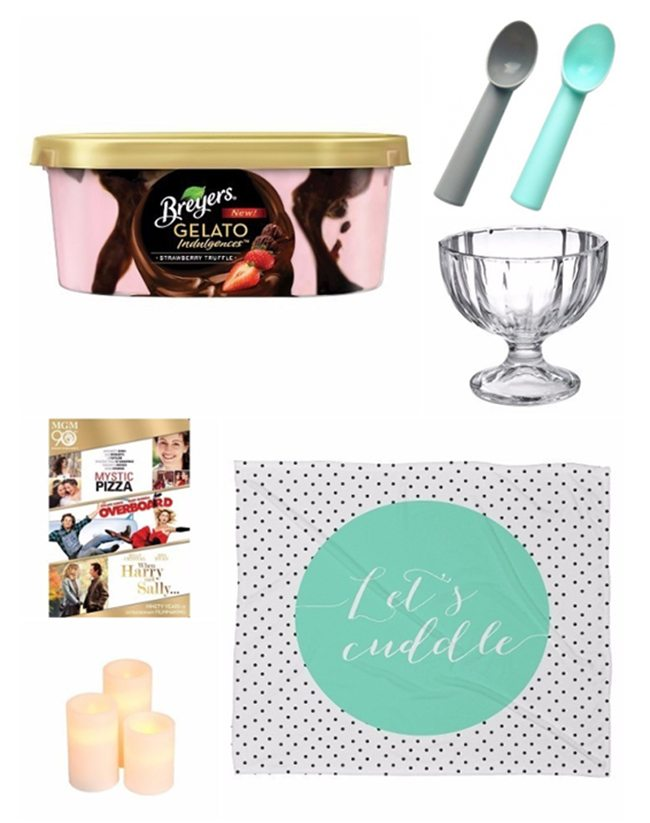 Movie Date Night at Home Ideas with Gelato | LIFESTYLE BLOG