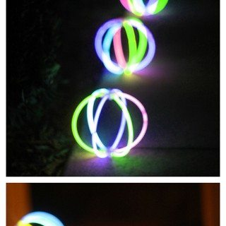 Totally cheap way to decorate for summer parties. Just use those $1 store Glow in the dark balls!