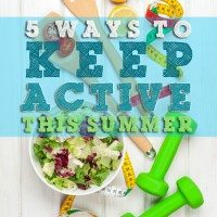 Need a jump start this summer? You totally need these 5 simple ideas on ways to keep active this summer with no fuss.