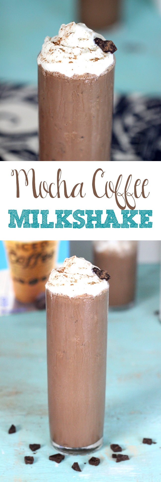 """Drool Time! Can't remember the last time I made a milkshake just for me!! """"Me Time"""" Mocha Coffee Milkshake"""