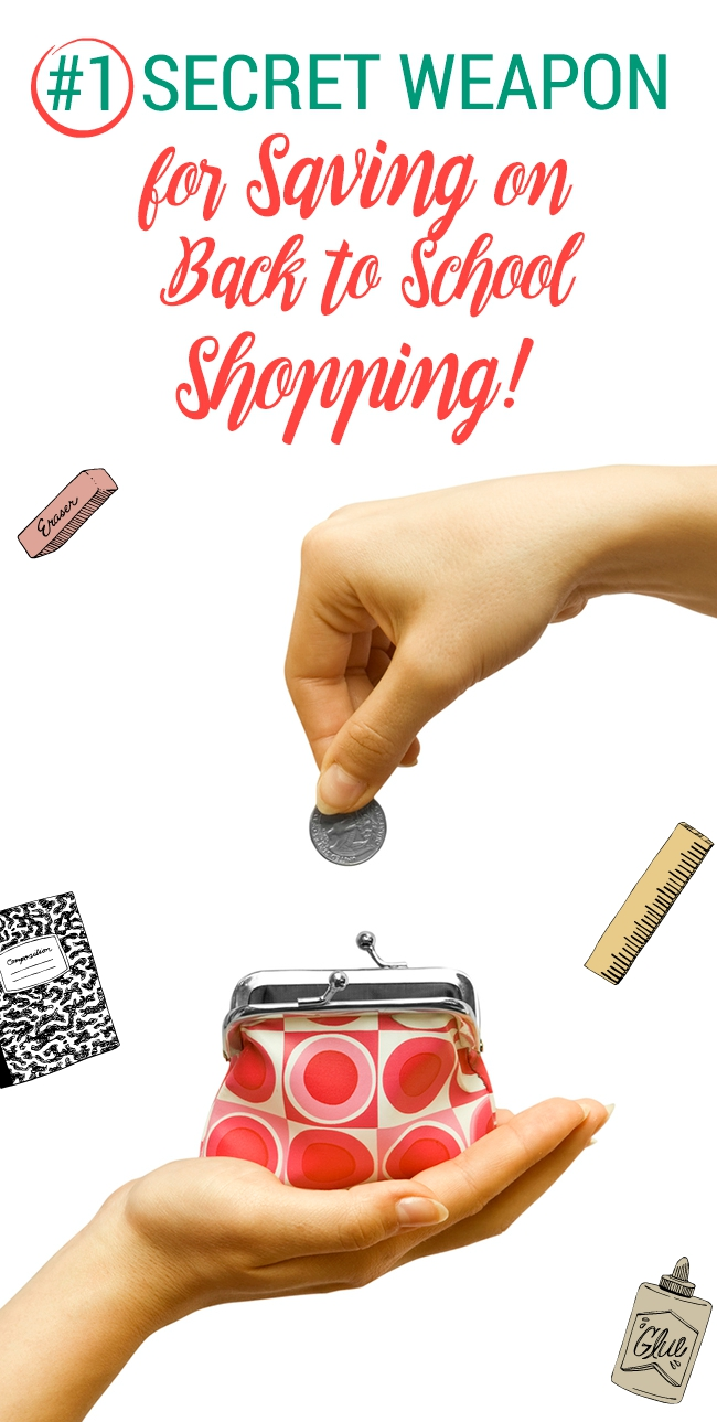 Stressed over back to school shopping? This one secret weapon is the only one you'll need to save your wallet and sanity!