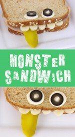 Scary Fun Lunch Idea: Monster Sandwich