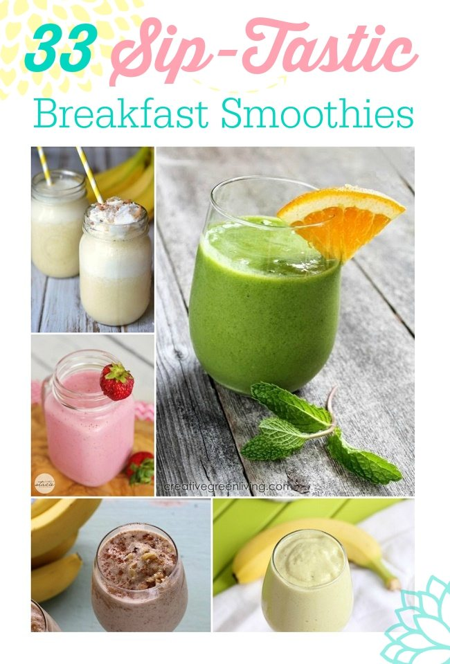 Busy? Grab your quick nutrition by the cup full with these crazy amazing breakfast smoothie recipes!