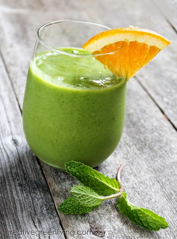 tropical green smoothie recipe on Creative Green Living