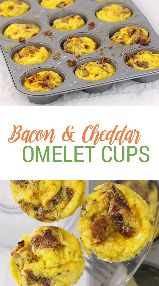 Family Friendly Breakfast: Bacon & Cheddar Omelet Cups ...