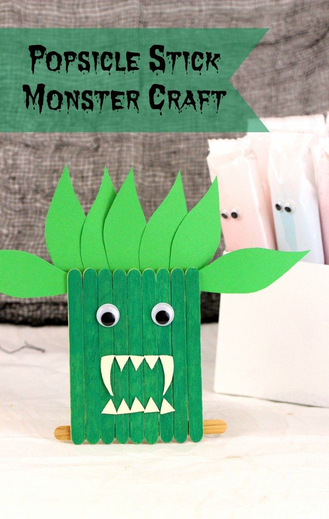 Awww. Make fun Halloween crafts with Popsicle Sticks!