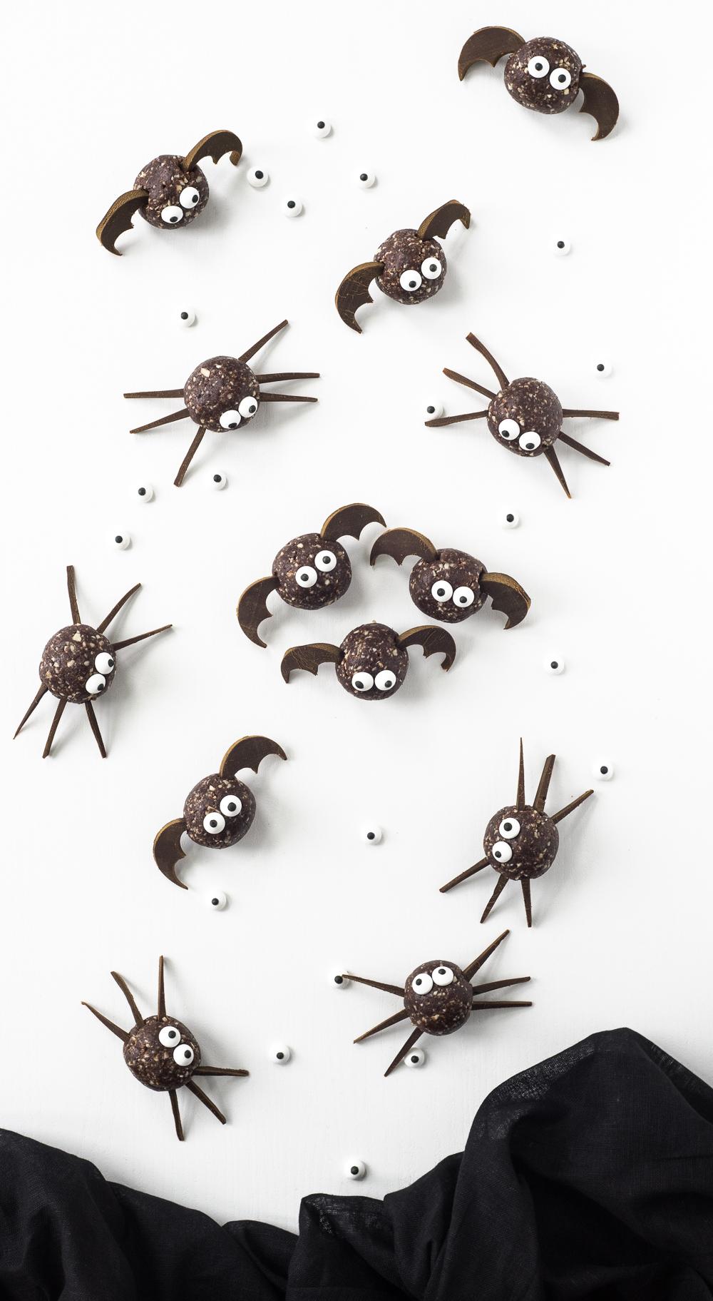 halloween snacks bats and spiders