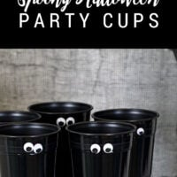 DIY Spooky Halloween Party Cups