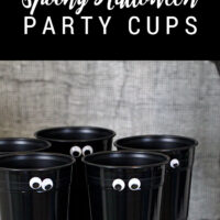 DIY Spooky Halloween Party Cups