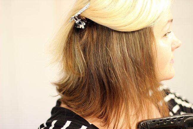 Quick fix: straight & sleek hair
