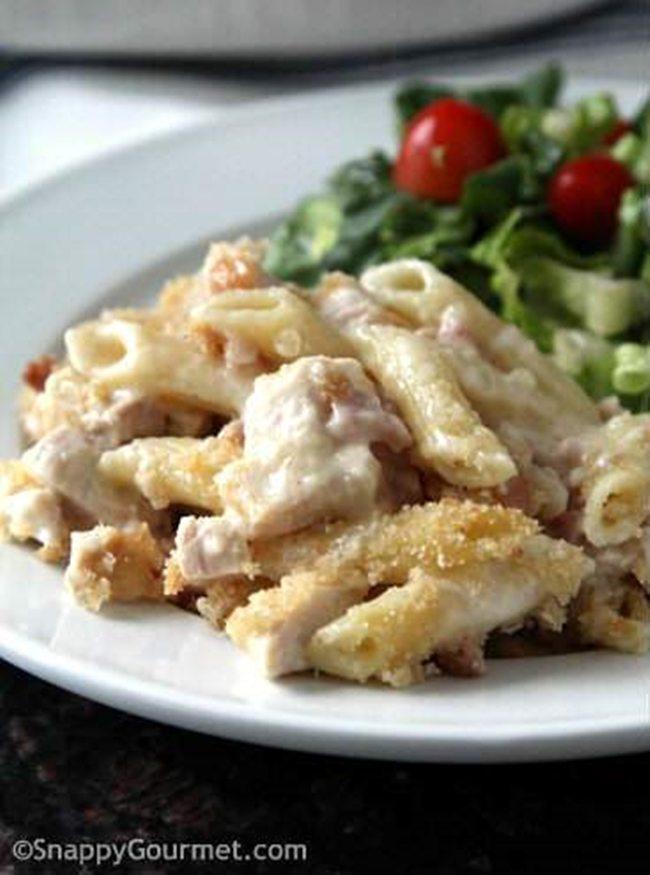 Chicken-Cordon-Bleu-Pasta-CasseroleSnappy Gourmet