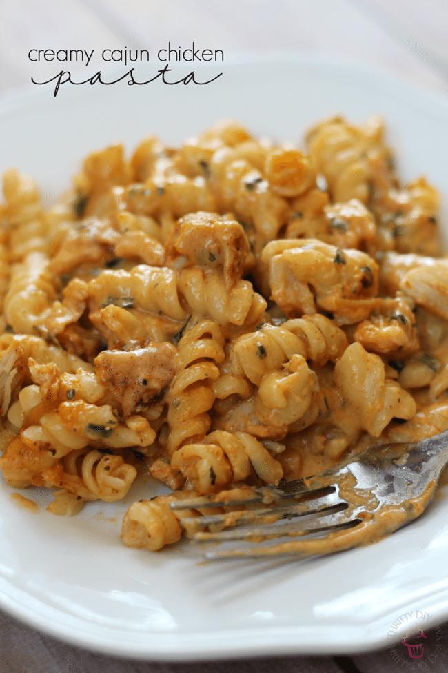 Creamy-Cajun-Chicken-PastaThrifty DIY Diva