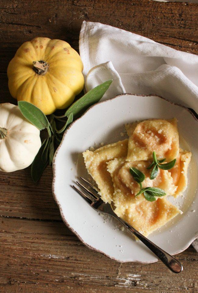 creamy-squash-filled-ravioliAn italian in my kitchen