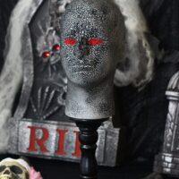DIY Halloween Evil Styrofoam Heads