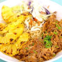 Easiest Slow Cooker Pork Hawaiian Bowls