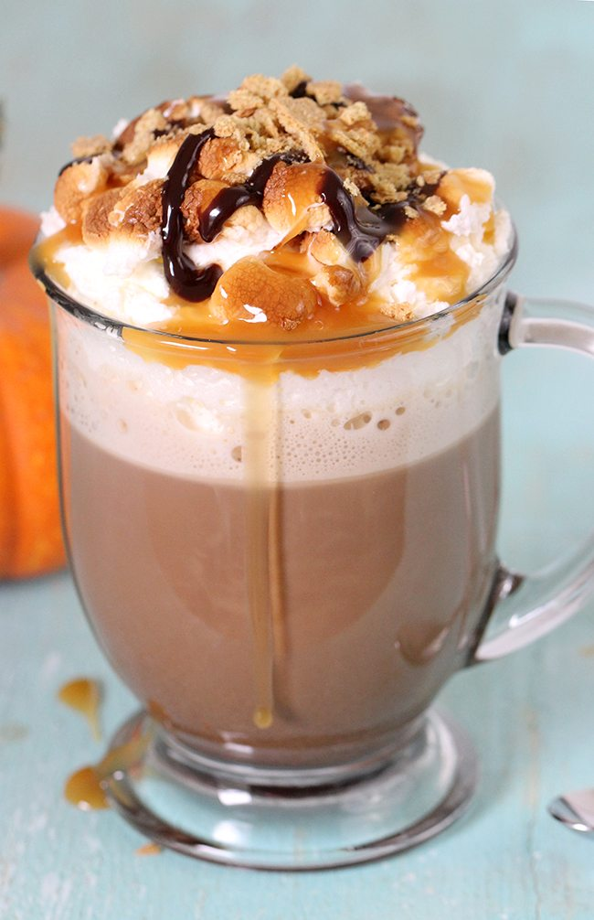 Droolin! Pumpkin Pie Spice and S'mores together in my favorite beverage ever? Coffee!
