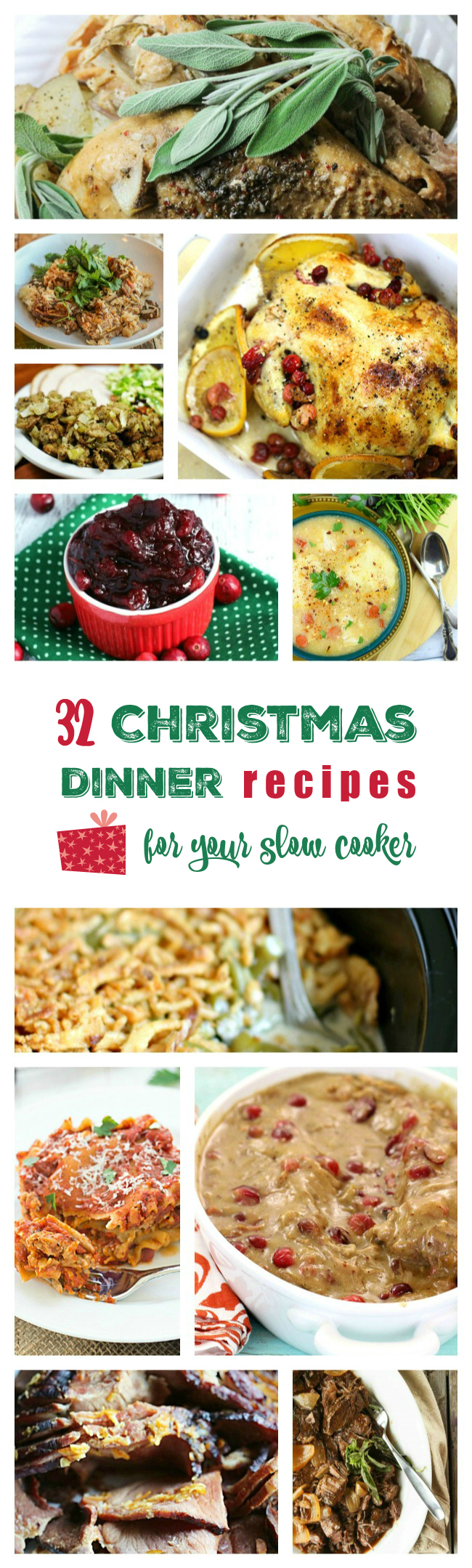 Yummers. Christmas Dinner recipes for the Crock Pot! Spend more time with friends and family and less time fussing over the oven.