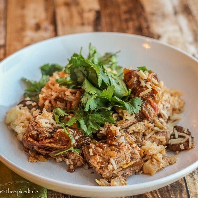 Pork-and-Beef-Biryani-with-Mushrooms-and-Cauliflower-thespicedlife