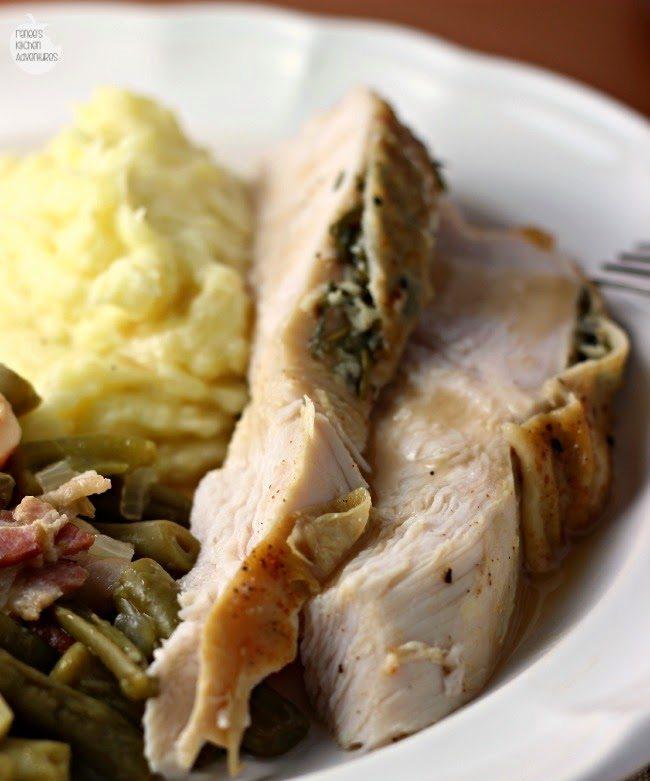 Slow Cooker Herbed Turkey Breast reneeskitchenadventures