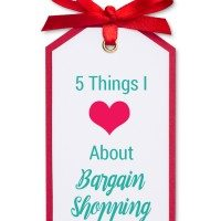 5 Things I Love About Bargain Shopping
