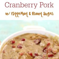 Slow Cooker Cranberry Pork with Cinnamon & Brown Sugar
