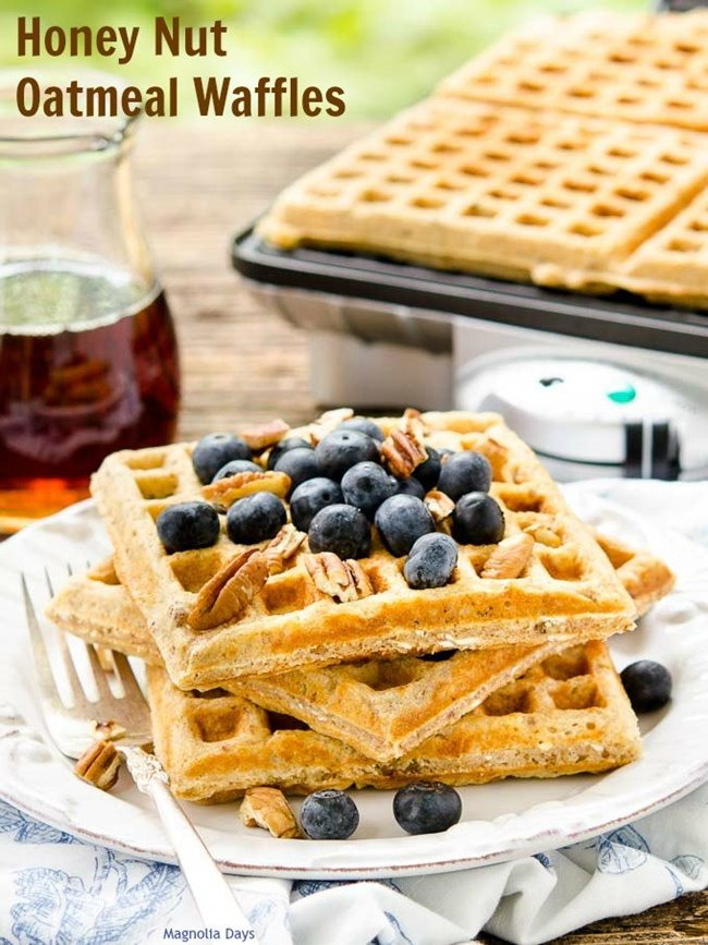 Honey-Nut-Oatmeal-Waffles-magnoliadays