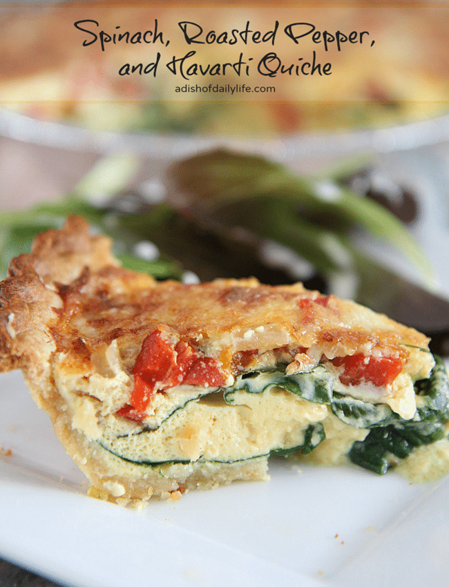 This-delicious-Spinach-Roasted-Pepper-and-Havarti-Quiche-adishofdailylife