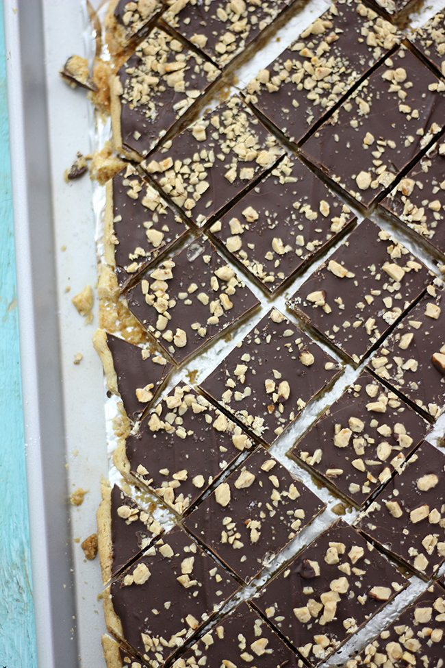 Oh man. These are ADDICTING. You have been warned. Salted Toffee Bars.