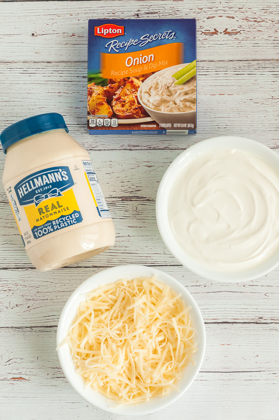 ingredients to make french onion dip